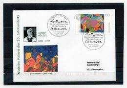 BRD, 2003, FDC (individuell/echt Gelaufen) Mit Michel 2316, Malerei/Adolf Hölzel - FDC: Covers