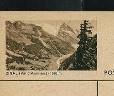 Carte Illustrée Neuve N° 182 - 0399 F  ZINAL (Val D'Anniviers) 1678 M (Zumstein 2009) - Entiers Postaux