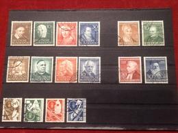 Briefmarkensteckkarte Briefmarken Lot BRD Wohlfahrtsätze 1951, 1952, 1953 Und Verkehrsausstellung 1953 Gestempelt - Usati