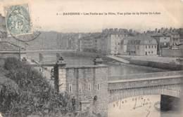 64 - BAYONNE - Les Ponts Sur La Nive, Vue Prise De La Porte St-Léon - Bayonne