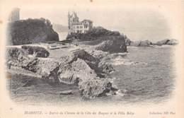 64 - BIARRITZ - Entrée Du Chemin De La Côte Des Basques Et La Villa Belza - Biarritz