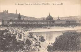 69 - LYON - Pont De La Guillotière Et L'Hôtel-Dieu - Lyon