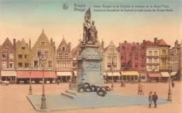 BRUGGE - Standbeeld Breydel En De Coninck En Oude Uizen Der Groote Markt - Brugge