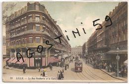 Lille Rue Faidherbe Et La Gare - Lille