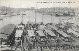 205 - 3836 13 Marseille Torpilleurs Dans Le Vieux Port - Canebière, Centre Ville