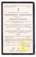 DP Franciscus Boogaerts ° Voortkapel Westerlo 1836 † 1906 X Rosalina Janssens - Images Religieuses