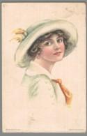 CPA Illustrateur - Femme Avec Chapeau - Illustration De Alice Luella Fidler - Illustrateurs & Photographes