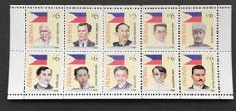 Philippines 1998 Heroes Of The Revolution Sheet Of Ten - Tokelau