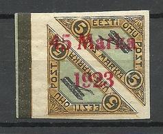ESTLAND ESTONIA 1923 Michel 45 B II Distance 2,.. Mm Signed - Estonie