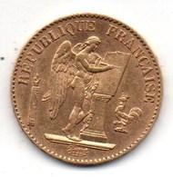 20Fr Génie Debout 1891 - Or