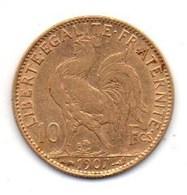 10Fr Coq 1907 - Gold