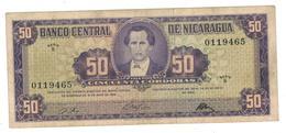 Nicaragua 50 Cordobas 1968, VF. - Nicaragua