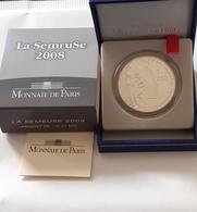 """Coffret 1 Euro 1/2 Argent 2008 La Semeuse """" 50ème Anniversaire De La V ème République """" 1,5 Euro Silver - France"""