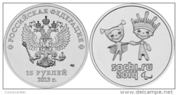 """Russia 25 Roubles 2013 """"Olympic Sochi 2014"""" UNC - Russie"""