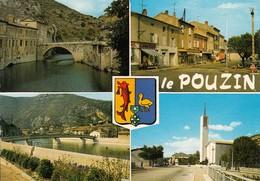 07 - Le Pouzin : Multivues - CPM écrite - Le Pouzin