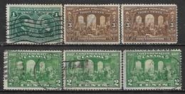 1908,1917,1927 CANADA Set Of 6 Used Stamps (Scott # 97,135,142) CV $7.60 - 1903-1908 Règne De Edward VII