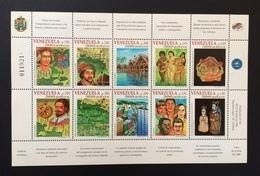 Venezuela 1998; Discovery Of America; Columbus; Nice MNH** Sheet; Low Start! - Venezuela