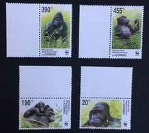 Congo 2002; WWF Animals & Fauna; Wildlife; Monkeys, Gorilla; MNH, Neuf**, Postfrisch; CV 16 Euro; - Democratic Republic Of Congo (1997 - ...)