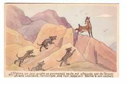 Disney N°17 Féline Attaquée Par De Féroces Chiens Courants. Elle Fuit Appelant Bambi à Son Secours - Other