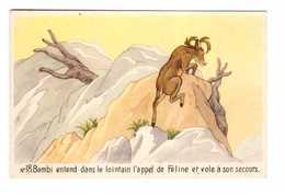 Disney N°18 Bambi Entend Dans Le Lointain L' Appel De Féline Et Vole à Son Secours - Other