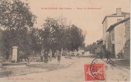 CPA Saint-Mathieu - Route De Rochechouart (avec Jolie Animation) - Saint Mathieu