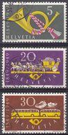 HELVETIA -  1949 - Serie Completa Usata Di 3 Valori: Yvert 471/473. - Svizzera