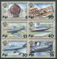 Fidschi 1983 200 Jahre Luftfahrt Flugzeuge Montgolfière 483/88 Postfrisch - Fidji (1970-...)