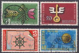 HELVETIA -  1954 - Serie Completa Usata Di 4 Valori: Yvert 544/547. - Svizzera