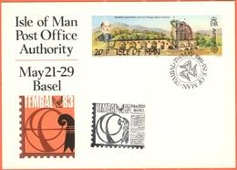 ISOLA DI MAN - Isle Of Man - 1983 - 20 1/2 P Europa Cept + Special Cancel Tembal '83 Basel Internationale Motiv-Briefmar - Esposizioni Filateliche