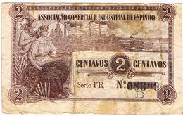 ESPINHO - CÉDULA DE 2 CENTAVOS DA ASSOCIAÇÃO COMERCIAL E INDUSTRIAL DE ESPINHO. - Portugal