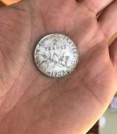 1 Piéce Argent 2 Francs Année Rare 1909 -   9,8 Grammes - France