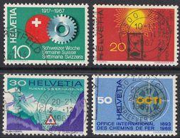 HELVETIA -  1967 - Serie Completa Usata Di 4 Valori: Yvert 791/794. - Svizzera