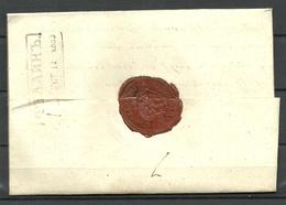 Estland Estonia 1853 Faltbrief FELLIN Kastenstempel Vom Fellin Nach Karkus - Estland