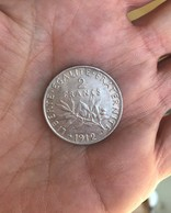 1 Piéce Argent 2 Francs Année 1912 -   10 Grammes - France