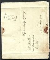 Estland Estonia 1848 Faltbrief VERRO (Võru) Kastenstempel Nach Gargel - Estland