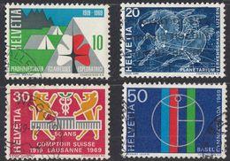 HELVETIA -  1969 - Serie Completa Usata Di 4 Valori: Yvert 828/831. - Svizzera