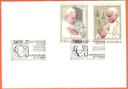 POLONIA - POLSKA - 1983 - 8,40 + 1,50 Pope Jan Pawel II + Special Cancel Tembal '83 Basel Internationale Motiv-Briefmar - Esposizioni Filateliche