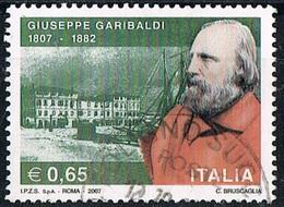 2007 - ITALIA - 200° ANNIVERSARIO DELLA NASCITA DI GIUSEPPE GARIBALDI  / 200th ANN. OF THE BIRTH OF G. GARIBALDI  USATO. - 6. 1946-.. Repubblica