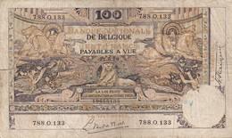 Belg  2 X 100 Fr  ( 1919 Fine +1942 XF ) - 100 Francs