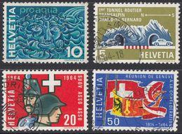 HELVETIA -  1964 - Serie Completa Usata Di 4 Valori: Yvert 726/729. - Svizzera