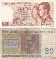 Belg 50 + 20 Fr - Belgien