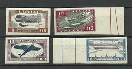 LETTLAND Latvia 1933 Michel 228 - 231 B MNH/MH - Lettland