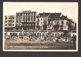 Knokke / Knocke-Zoute - L'Hôtel Majestic Et La Plage - 1932 - Fotokaart - Knokke