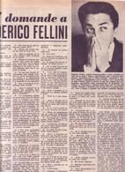 (pagine-pages)FEDERICO FELLINI  Tempo1956/27. - Libri, Riviste, Fumetti