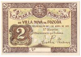 VILA NOVA DE FOZ CÔA - CÉDULA DE 2 CENTAVOS DA CÂMARA MUNICIPAL DE FOZ CÔA. - Portugal