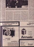 (pagine-pages)PUBBLICITA' FERRANIA  Tempo1956/27. - Libri, Riviste, Fumetti