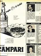 (pagine-pages)PUBBLICITA' CAMPARI  Tempo1956/27. - Libri, Riviste, Fumetti