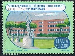 2007 - ITALIA - 50° ANNIVERSARIO DELLA SCUOLA SUPERIORE DELL'ECONOMIA E DELLE FINANZE  / ITALIAN SCHOOL. USATO. - 6. 1946-.. Repubblica