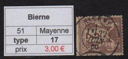 Bierne - Mayenne - Type Sage - Marcofilia (Sellos Separados)