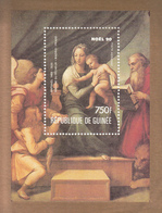1990 Guinee Guinea Noel Christmas Raphael Art Paintings Souvenir Sheet   MNH - Guinée (1958-...)